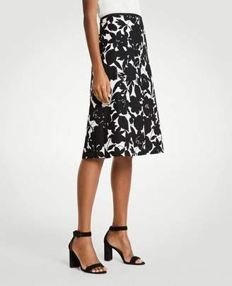 Ann Taylor Floral A-Line Skirt