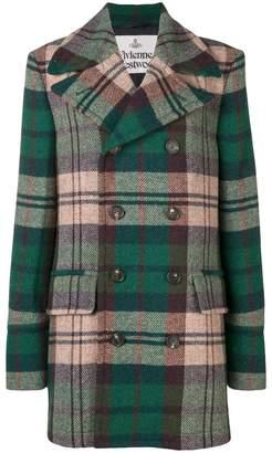 Vivienne Westwood tartan double-breasted coat