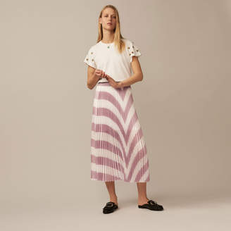 Maje Long pleated skirt