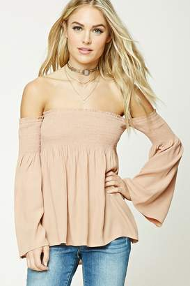 Forever 21 Contemporary Smocked Top