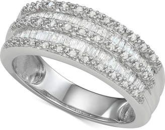 Macy's Diamond Band Ring (1/2 ct. t.w.) in Sterling Silver
