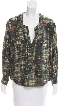 Isabel Marant Printed Long Sleeve Top