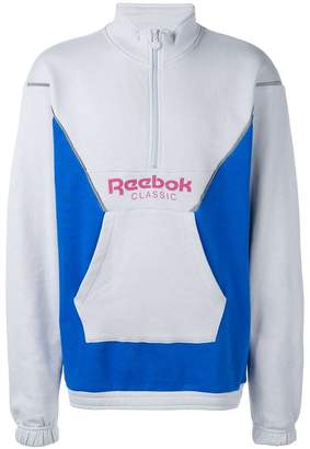 Reebok color blocked sweater