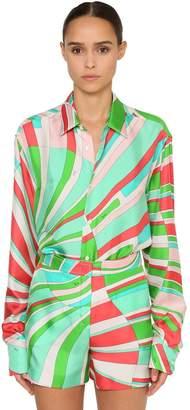 Emilio Pucci (エミリオプッチ) - EMILIO PUCCI シルクツイル プリントシャツ