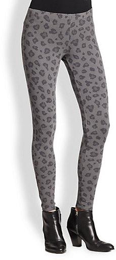 Splendid Leopard-Print Stretch Jersey Leggings