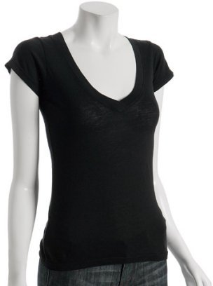 Nation LTD black cotton v-neck t-shirt