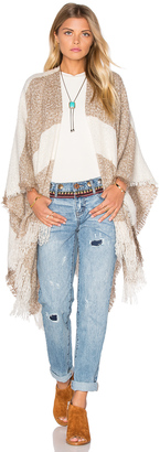 Michael Stars Boucle Striped Cape $68 thestylecure.com