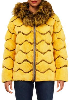 Gorski Wave Quilted Reversible Mink-Fur Jacket w/ For-Fur Hood
