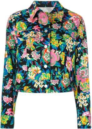 MSGM flower print jacket