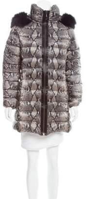 Diane von Furstenberg Fur-Trimmed Down Jacket