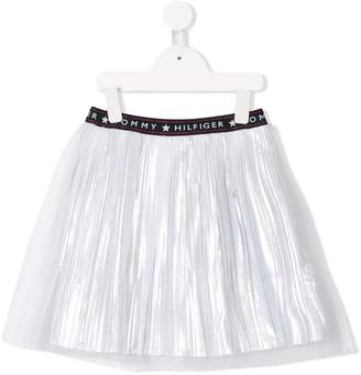 Tommy Hilfiger Junior pleated flared skirt