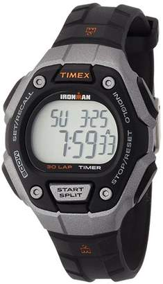 Timex Women's Ironman 30-Lap Mid-Size Black/Silver/Orange Watch TW5K89200