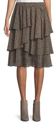 MICHAEL Michael Kors Layered Pop Deco Tulip Skirt