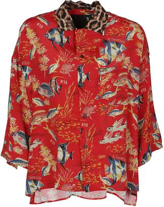 R 13 Oversized Hawaiian Shirt