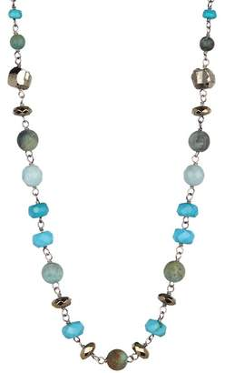 Chan Luu Sterling Silver Turquoise Beaded Necklace