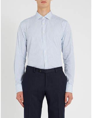 Tiger of Sweden Fridolf striped extra slim-fit cotton-blend shirt