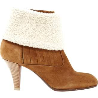 Michel Perry Camel Suede Ankle boots