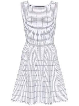 Alaia Azzedine Pagode Square Neck Bicolor Dress