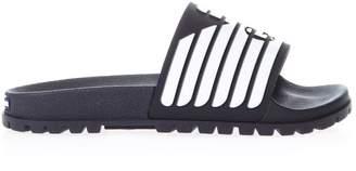 Emporio Armani Blu Branded Rubber Slippers