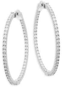 """Saks Fifth Avenue Faceted Crystal Hoop Earrings/1.75"""""""