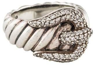David Yurman Diamond Buckle Ring