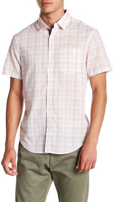 Original Penguin Plaid Short Sleeve Slim Fit Shirt