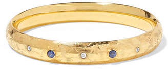 Fred Leighton - 1917 14-karat Gold, Sapphire And Diamond Bangle