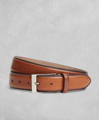 Brooks Brothers Golden Fleece Side Stitch Leather Belt