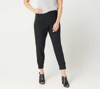 Halston H By H by Petite Ankle Pull-On Pants with Tuxedo Panel