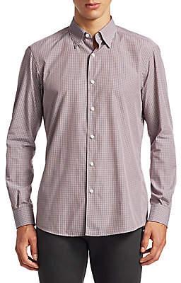 Ermenegildo Zegna Men's Slim Fit Check Button-Down Shirt