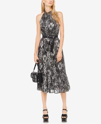 Michael Kors MICHAEL Metallic Midi Dress