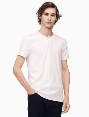 Calvin Klein slim fit piped henley shirt