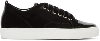 Lanvin Black Velvet Sneakers $570 thestylecure.com