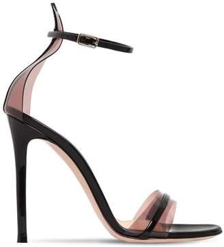 Gianvito Rossi 105mm Plexi & Patent Leather Sandals