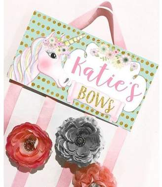 DAY Birger et Mikkelsen Toad and Lily Unicorn Personalized Hair Bow Holder