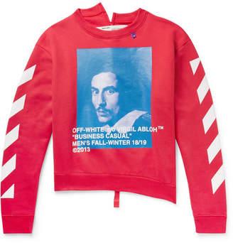 Off-White Printed Fleece-Back Cotton-Jersey Sweatshirt