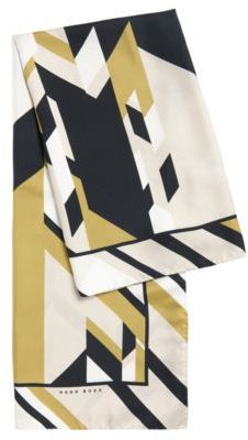 Hugo Boss Lisana Silk Print Large Square Scarf One Size Patterned $265 thestylecure.com