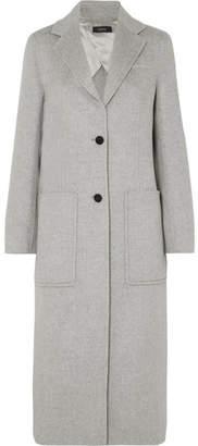 Joseph Marvil Brushed Wool And Silk-blend Coat - Gray