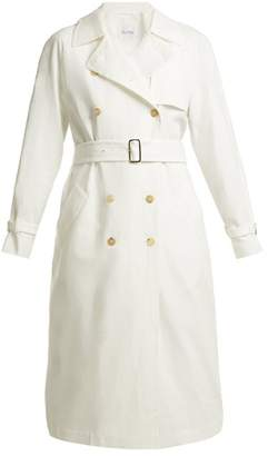 Max Mara Azeglio Trench Coat - Womens - White