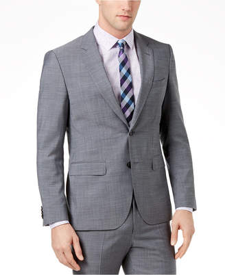 HUGO BOSS HUGO Men's Extra-Slim Fit Gray Crosshatch Suit Jacket