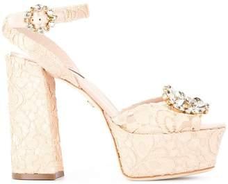 Dolce & Gabbana lace platform sandals