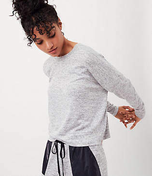 Lou & Grey FORM Marled Cropped Sweatshirt - Anytime
