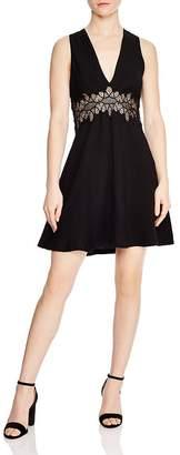 Sandro Elena Lace-Detail A-Line Dress