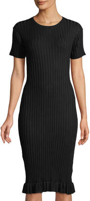John & Jenn Judith Ribbed Short-Sleeve Dress