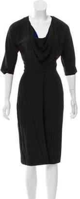 Zero Maria Cornejo Cowl-Neck Short Sleeve Dress