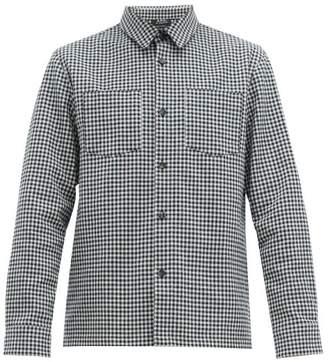 A.P.C. Pepper Gingham Cotton Blend Overshirt - Mens - White Black