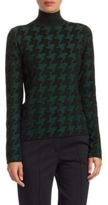Akris Punto Wool Houndstooth Turtleneck Sweater