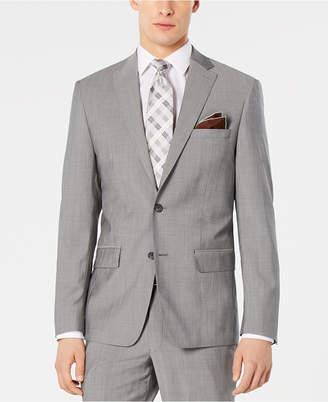 DKNY Men Modern-Fit Stretch Light Gray Suit Jacket