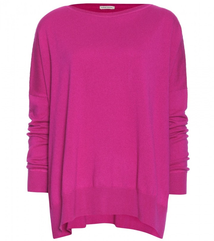 Tomas Maier OVERSIZE CASHMERE PONCHO PULLOVER