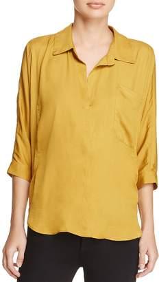 d.RA Marie Collared V-Neck Shirt